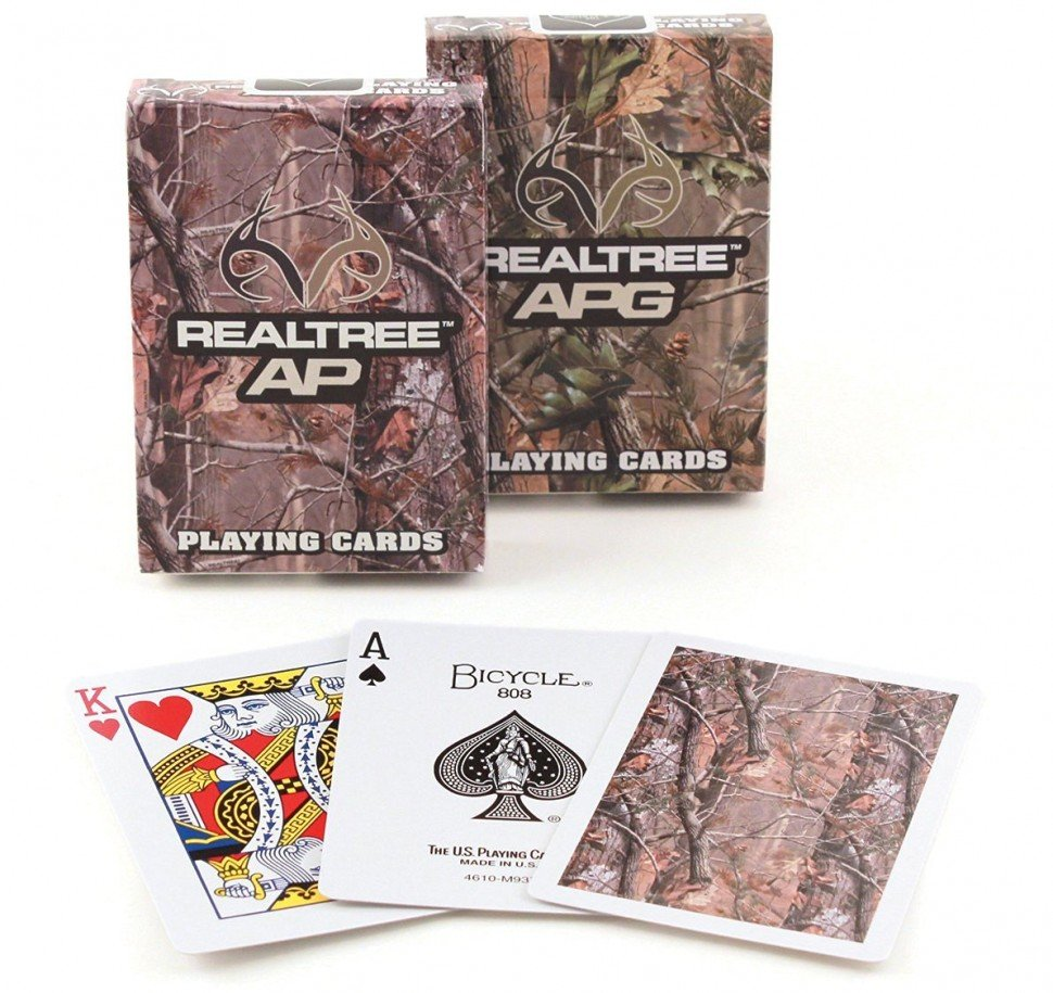 "картинка Карты ""Bicycle Realtree Camo"" от магазина Gamesdealer.ru"